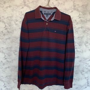 Vintage Tommy Hilfiger Striped Long Sleeve Polo